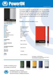 PowerOn HT-18A CASE-USB218-20RD Leaflet