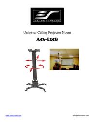 Elite Screens A56-E25B User Manual