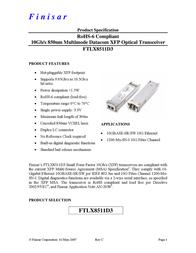 Finisar FTLX8511D3 User Manual