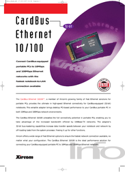 Xircom CBE-10 Leaflet