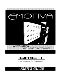 Emotiva DMC-1 User Manual