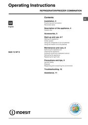 Indesit BAN 12 NF User Manual