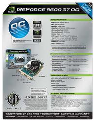 BFG Tech 8600GT OC 256MB 150842 Leaflet