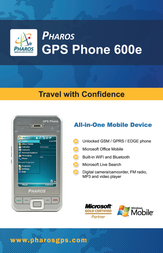 Pharos gps 600e Specification Guide