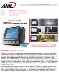 AML KDT750/900 ACC-0754 User Manual