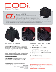 CODi CT3 Checkpoint Tested Duo C6011 Leaflet