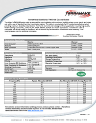 Terrawave TWS-100 Leaflet