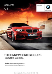 BMW 2015 228i Coupe Owner's Manual