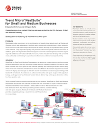 Trend Micro NeatSuite SMB for Exchange, FR 5u CD W32 NCEXWWF1AYBUPN5 Leaflet