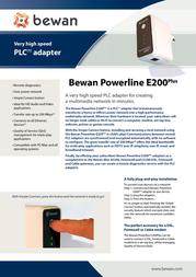 Bewan Powerline E200Plus Duo BWPLC-E200PDUO Leaflet