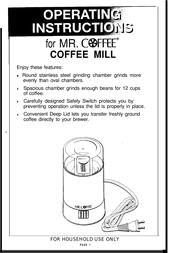 Mr. Coffee IDS60 User Manual