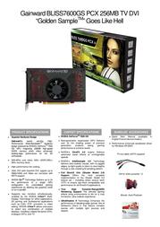 Gainward BP7600GS-256-GS-GLH-TV-DVI 471846200-8217 Leaflet