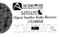 Advent SIRIUS CE1000SR User Manual