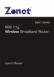 Zonet ZSR1134WE User Guide