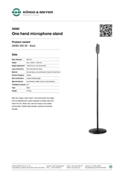 König & Meyer 26085 26085-300-55 Leaflet