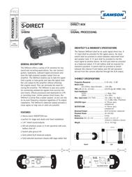 Samson S-direct Direct Box SASDIR Leaflet