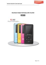 Ricatech RC-800 RC800-4GBPINK User Manual