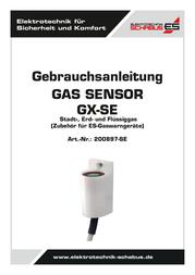 Schabus Gas sensor 200897-SE detects Propane, Methane 200897-SE User Manual