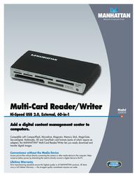 Manhattan Multi-Card Reader/Writer 100939 Leaflet
