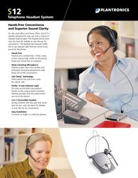 Plantronics S12 Telephone Headset System S12DUOSET Leaflet