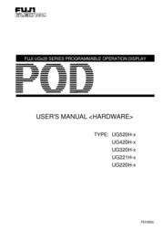 Fujitronic Programmable Operation Display UG520H-x User Manual