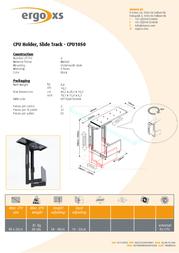 ErgoXS CPU Holder, Slide Track CPU1050 Leaflet
