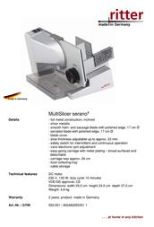 Ritter Serano 7 553.051 Leaflet