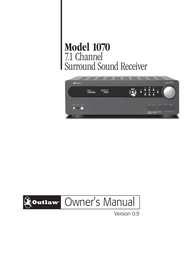 Outlaw Audio 1070 User Manual