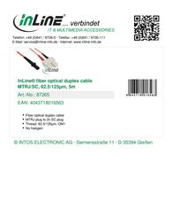 InLine 5m MTRJ/SC 87265 Leaflet