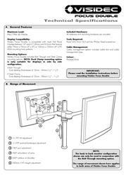 Atdec VISIDEC Focus Articulated Arm Double V-AT-DB Leaflet