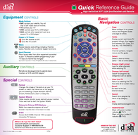 DISH Network High-Definition ViP 22k Duo Receiver and Remote Leaflet