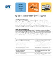 HP C4156A Leaflet