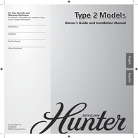 "Hunter Stonington - 46"" 21362 User Manual"