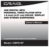 Craig CMP616F User Manual
