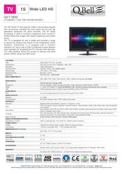 QBell Technology QXT.19DD P226400A Leaflet