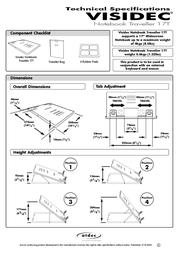 Atdec VISIDEC Traveller 17T V-T17 Leaflet