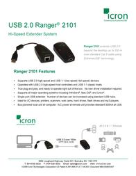 Icron USB Ranger 2101 00-00232 Leaflet