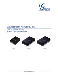 Grandstream HT704 HANDYTONE ATA-ROUTER HT704 User Manual