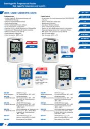 Dostmann Electronic Dostmann electronic Temperature Data Logger 5005-0105 Data Sheet