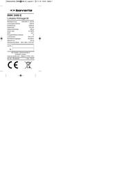 Bavaria 2360360 White 2360360 Data Sheet
