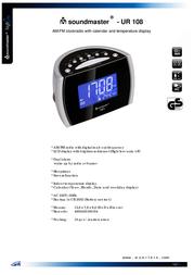 Soundmaster UR 108 UR-108 Leaflet