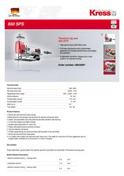 Kress 650 SPS 06032907 Leaflet
