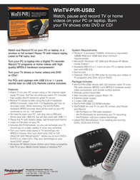 Hauppauge WinTV-PVR-USB2 950 Leaflet