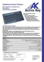 Active Key AK-440-TI AK-440-TIU-B/US Leaflet