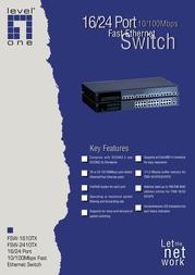 CP Technologies FSW-1610TX Leaflet