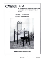 Coast Vanity Collection 2438 User Manual