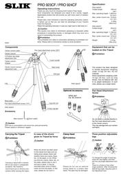Slik PRO 924CF Leaflet