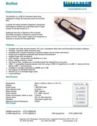 Hypertec 256MB HyperDrive HYFLUSB05256 Leaflet