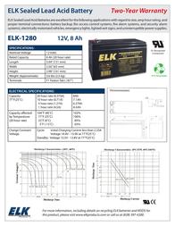 ELK 1280 ELK-1280 Leaflet