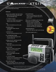 Midland XT511 22-CHANNEL GMRS EMERGENCY CRANK RADIO WITH AM/FM/WEATHER XT511 Leaflet